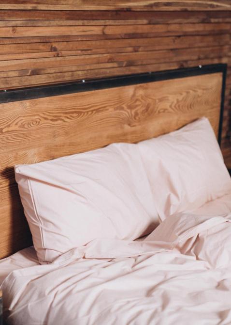 Светло-розовое постельное белье Home me Цветение нежности, фото