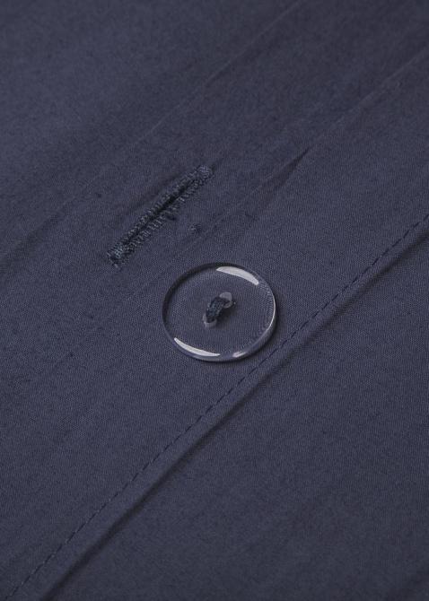Синее постельное белье Home me Саргассово море из хлопка, фото