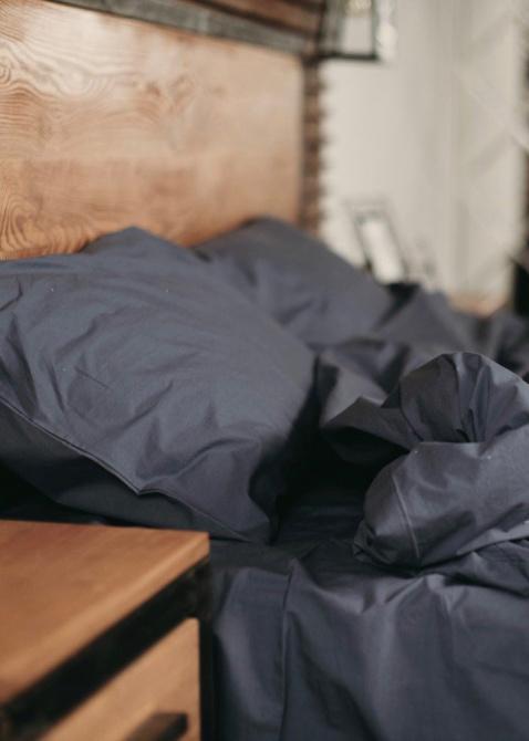 Комплект постельного белья Home me Саргассово море синего цвета, фото
