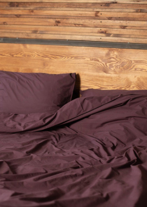 Комплект постельного белья Home me Послевкусие инжира фиолетово-бордового цвета, фото