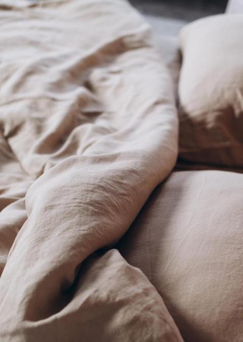Комплект постельного белья Home me Миндаль с молоком двуспальный, фото