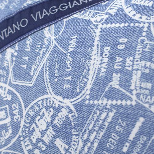 Декоративная подушка Bic Ricami голубого цвета с абстрактным рисунком, фото
