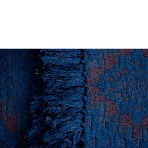 Шерстяной плед Shingora синего цвета, фото