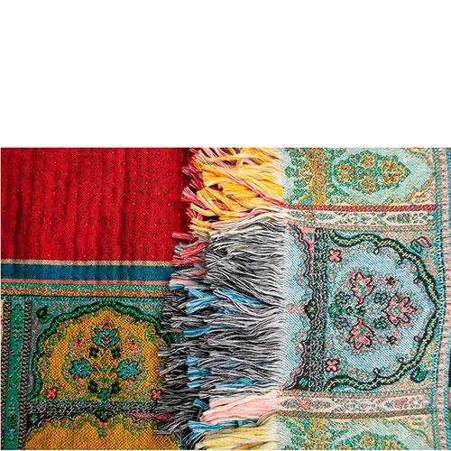 Шерстяной плед Shingora с ярким восточным принтом, фото