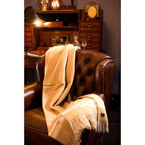 Плед Tweedmill бежевого цвета, фото