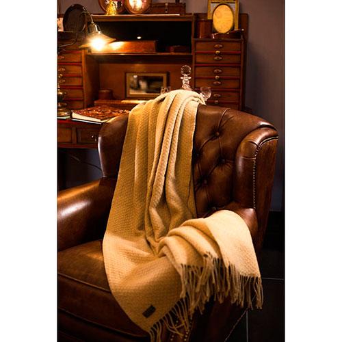Плед Tweedmill Wafer Corn бежевого цвета, фото