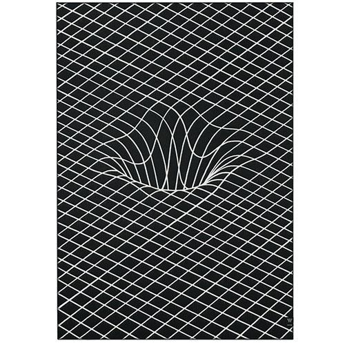 Плед Woolkrafts Currents by Brendan Monroe с объемным рисунком, фото