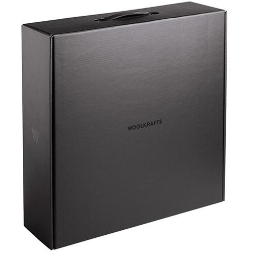 Плед Woolkrafts Lines двухсторонний черно-белый в полоску, фото