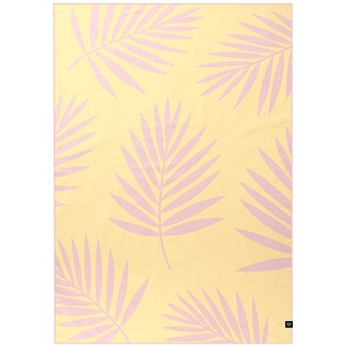 Двусторонний плед Woolkrafts Cotton Collection Palms с растительным принтом, фото