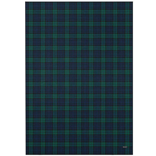 Плед Woolkrafts Hunter Tartan в зеленую шотландскую клетку, фото