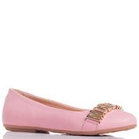 Кожаные балетки Moschino розового цвета, фото