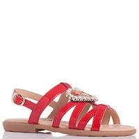 Лаковые сандалии Moschino красного цвета, фото