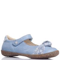 Голубые туфли Naturino с джинсовыми элементами, фото