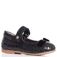 Черные туфли на липучках Naturino с бантиком, фото