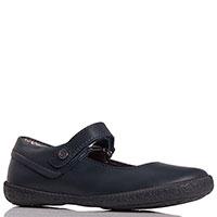 Синие туфли Naturino из гладкой кожи с ремешком, фото