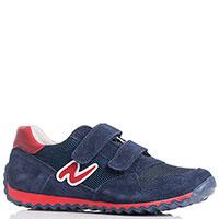 Синие кроссовки Naturino с элементами красного цвета, фото