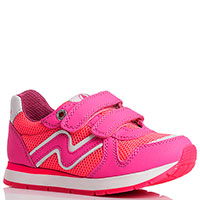 Кроссовки на липучках Naturino розового цвета, фото