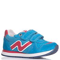 Голубые кроссовки Naturino с красными элементами, фото