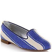Туфли-слиперы Dolce&Gabbana из текстиля в сине-белую полоску, фото