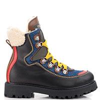 Ботинки Dsquared2 с мехом черного цвета, фото