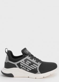 Детские черные кроссовки Ea7 Emporio Armani с лого, фото