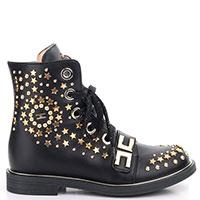 Демисезонные детские ботинки Elisabetta Franchi с заклепками, фото