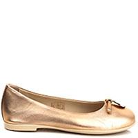 Золотистые балетки Emporio Armani с декором, фото