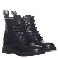 Высокие кожаные ботинки черного цвета Cult на шнуровке и молнии, фото