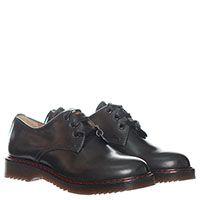 Кожаные туфли серого цвета Patrizia Pepe на шнуровке, фото