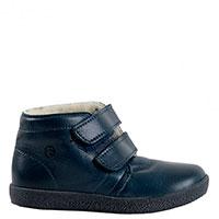Ботинки Falcotto из синей кожи утепленные мехом, фото