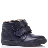 Синие кожаные ботинки Falcotto на липучках, фото