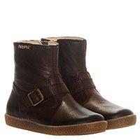 Коричневые кожаные ботинки на молнии Falcotto, фото