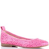 Розовые балетки Gallucci с перфорацией, фото
