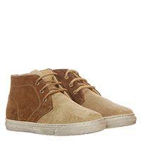 Туфли из замши бежевого и коричневого цвета Gallucci на шнуровке, фото