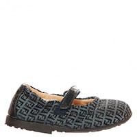 Туфли Fendi на липучке с принтом, фото