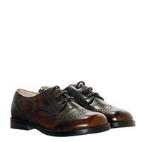 Кожаные туфли-броги с перфорацией коричневого цвета Gallucci с подпалами, фото