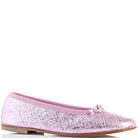 Кожаные балетки Gallucci розового цвета, фото
