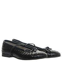 Черные туфли из плетеной кожи Gallucci на резинке, фото