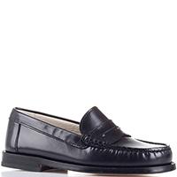Кожаные туфли Gallucci темного синего цвета, фото