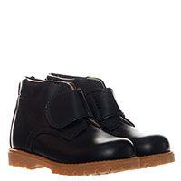 Ботинки кожаные черного цвета Gallucci на липучках, фото