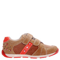 Замшевые кроссовки Naturino с яркими текстильными вставками, фото