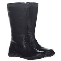Черные кожаные сапоги Naturino на молнии, фото