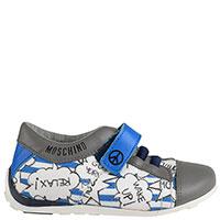 Кроссовки на липучке Moschino с принтом, фото