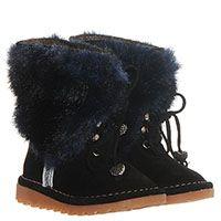 Замшевые ботинки черного цвета на шнуровке  Moschino с меховым отворотом , фото