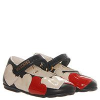 Туфли из лаковой кожи черного цвета с декором в виде сердец Moschino, фото
