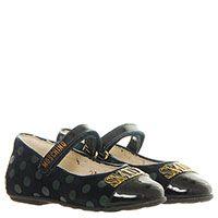 Туфли из замши с кожаным лаковым носочком синего цвета Moschino, фото