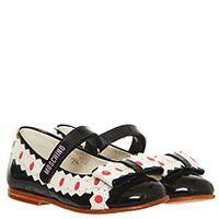 Туфли из лаковой кожи черного цвета с контрастным декором Moschino, фото