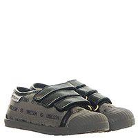 Кеды из текстиля серого цвета Moschino на липучках, фото
