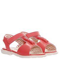 Розовые кожаные босоножки Moschino на липучках, фото