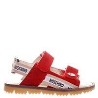 Красные сандалии Moschino на липучках, фото